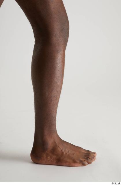Calf Man Black Nude Slim Studio photo references