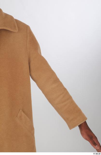 Arm Upper Body Man Black Casual Coat Slim Studio photo references