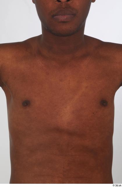 Chest Man Black Nude Slim Studio photo references