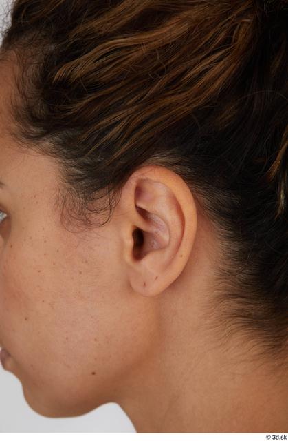 Ear Woman Black Casual Slim Street photo references