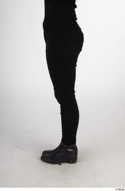 Leg Woman Black Casual Slim Street photo references
