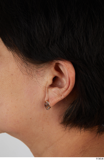 Ear Woman Asian Casual Slim Street photo references