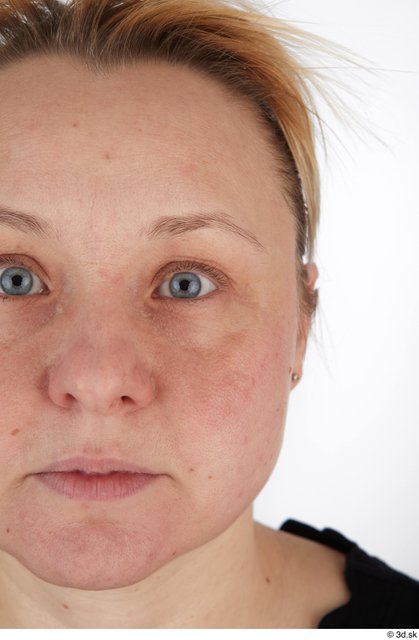 Eye Woman White Casual Chubby Street photo references