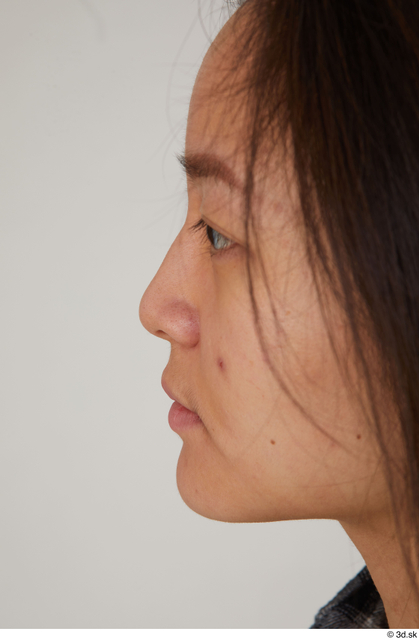 Nose Woman Asian Casual Slim Street photo references