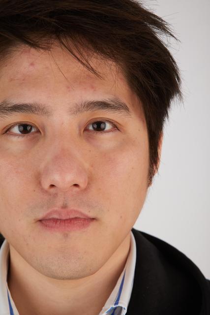 Eye Man Asian Casual Slim Street photo references