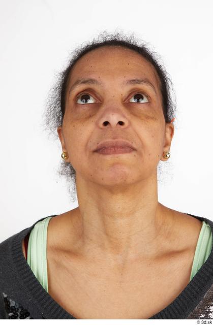 Head Woman Black Casual Slim Street photo references