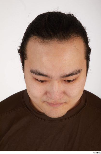 Head Hair Man Asian Casual Chubby Street photo references