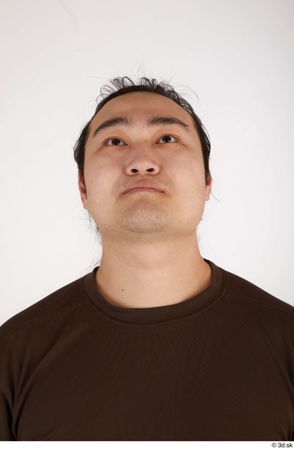 Head Man Asian Casual Chubby Street photo references