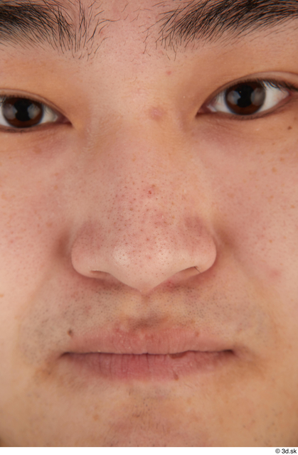 Nose Man Asian Casual Chubby Street photo references