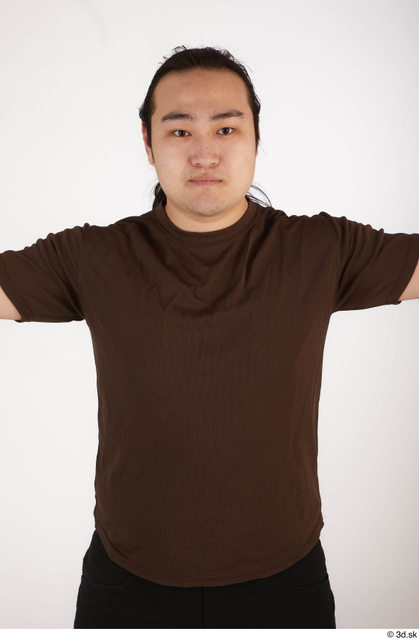 Upper Body Man Asian Casual Chubby Street photo references