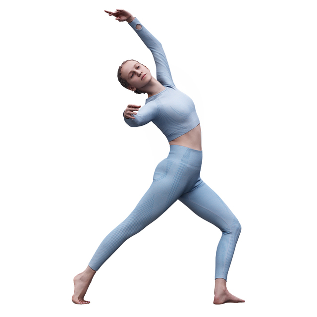 Whole Body Woman White Sports Athletic 3D Cleaned Raw Bodies