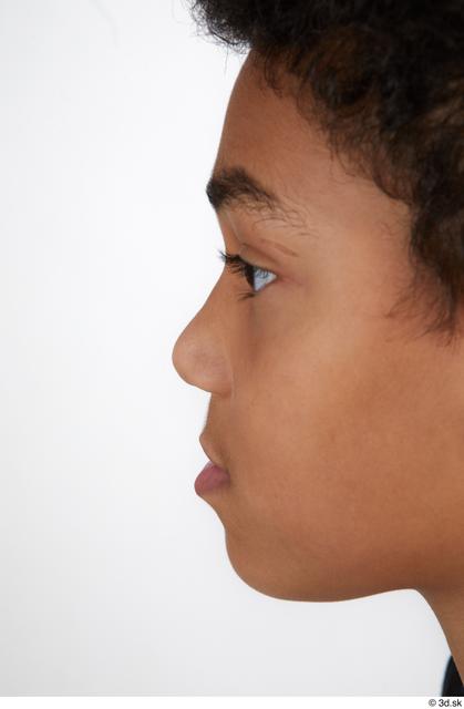 Nose Man Black Casual Slim Street photo references