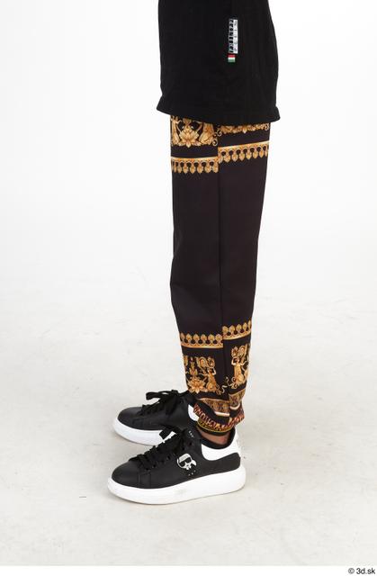Leg Man Black Casual Slim Street photo references