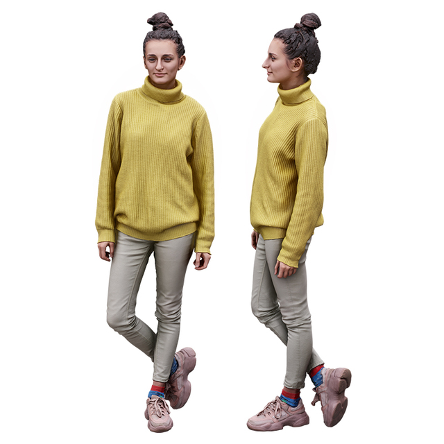 Whole Body Woman White Casual Slim 3D Cleaned Raw Bodies