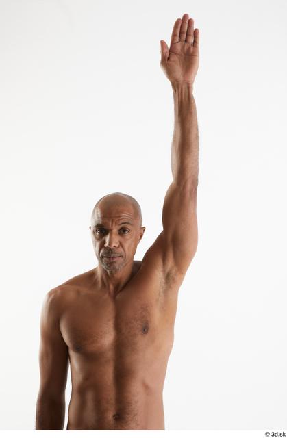 Arm Man Black Nude Slim Studio photo references