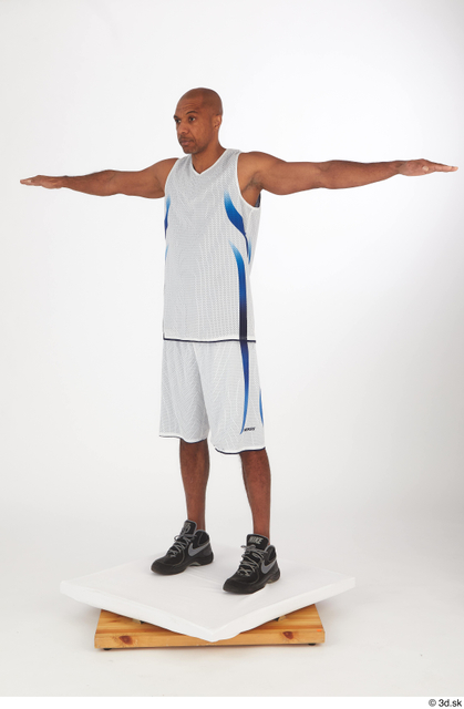 Whole Body Man T poses Black Shorts Slim Standing Top Studio photo references