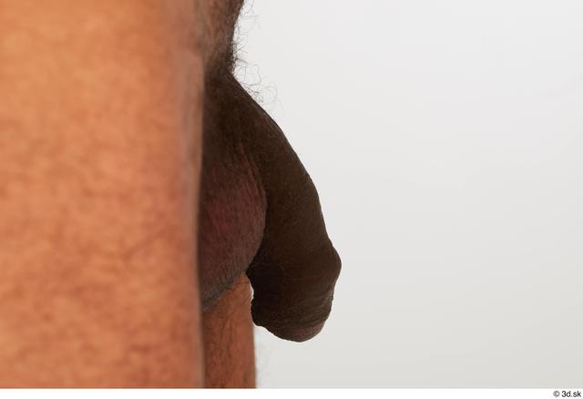 Penis Man Black Nude Slim Studio photo references