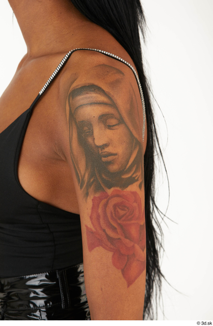 Woman White Tattoo Casual Slim Street photo references