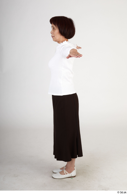 Whole Body Woman T poses Asian Casual Slim Standing Street photo references