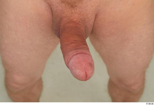 Penis Man White Slim Studio photo references