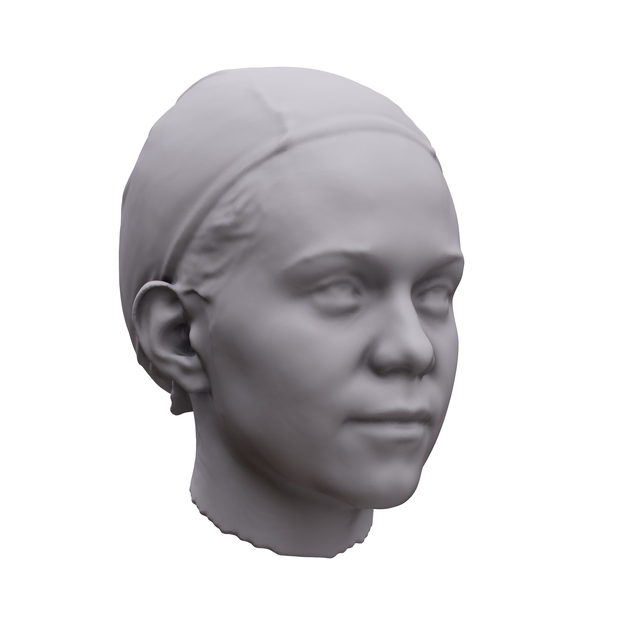 Woman White 3D Artec Heads