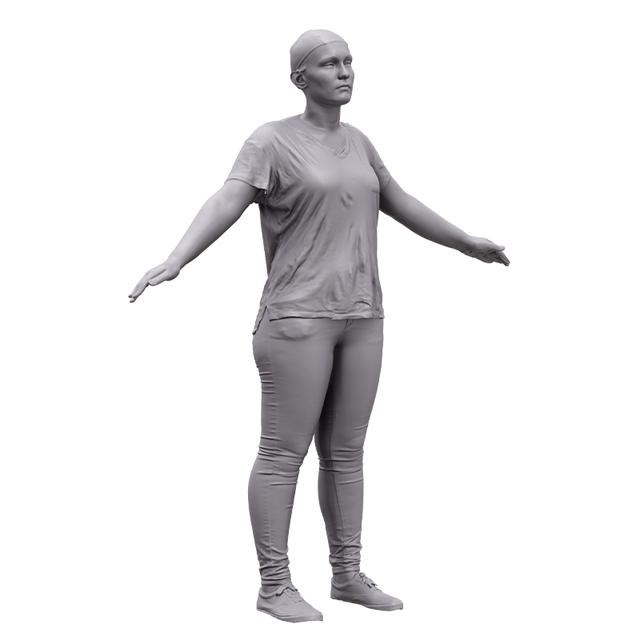 Woman White 3D Artec Bodies