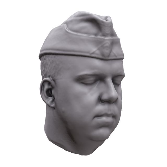 Man White 3D Artec Heads