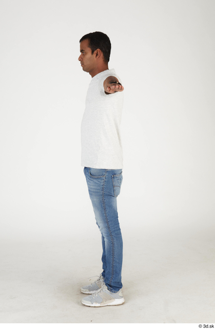 Whole Body Man T poses Asian Casual Slim Standing Street photo references