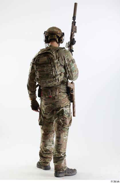 Whole Body Army Athletic Standing Studio photo references