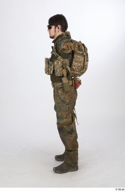 Whole Body T poses Army Athletic Standing Street photo references