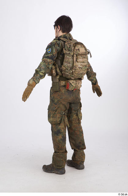 Whole Body Army Athletic Standing Street photo references
