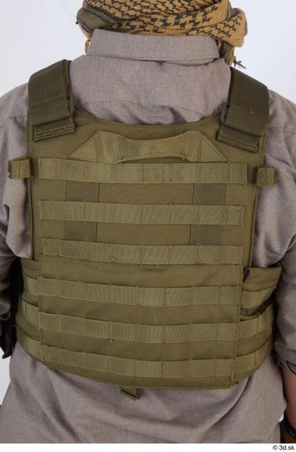 Upper Body Man White Army Uniform Vest Athletic Street photo references