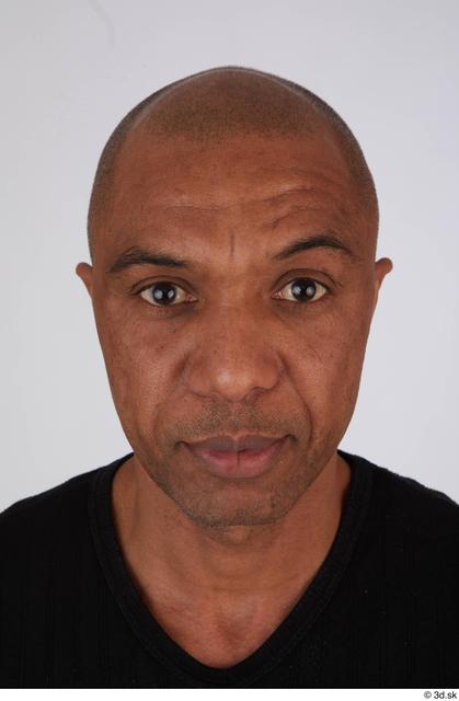 Face Head Man Black Casual Slim Bald Street photo references