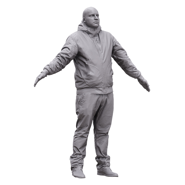 Whole Body Man White 3D Artec Bodies