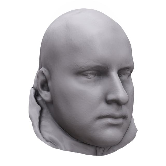 Head Man White 3D Artec Heads