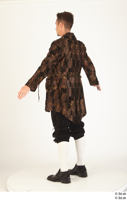 Whole Body Man White Historical Costume photo references