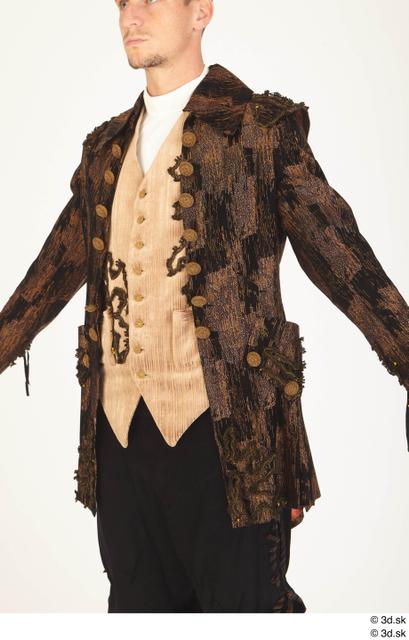 Upper Body Man White Historical Jacket Costume photo references