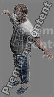 3D Model White Man
