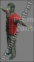 3D Model White Man # 5