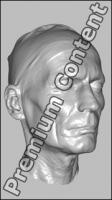 Male head 3D scan - Milan