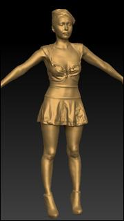 Female sailor model