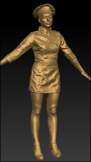 Female soldier 3D scan