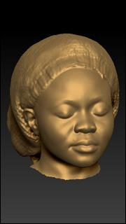 Head 3D scan of Kendy