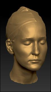 Real 3D scan of head - Brenda
