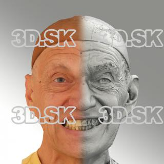 Raw 3D head scan of smiling emotion - Jan
