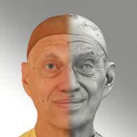 Raw 3D head scan of natural smiling emotion - Jan
