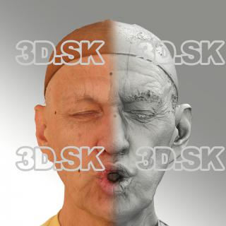 Raw 3D head scan of U phoneme - Jan