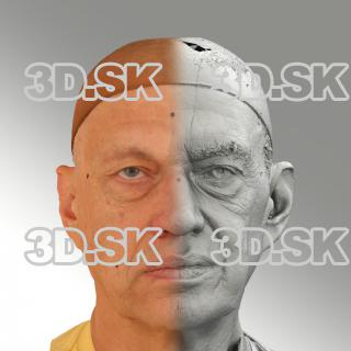 Raw 3D head scan of neutral emotion - Jan