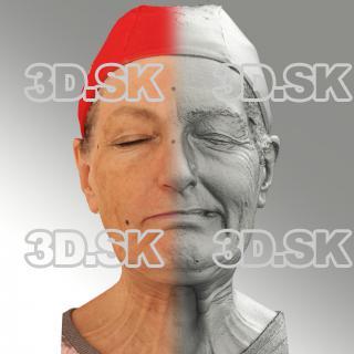 Raw 3D head scan of sneer emotion left - Drahomira