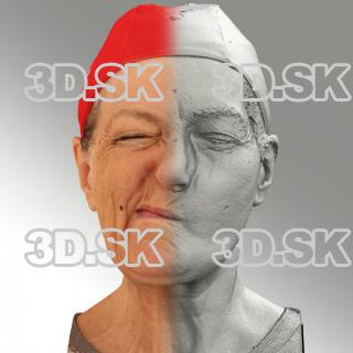 Raw 3D head scan of sneer emotion right - Drahomira